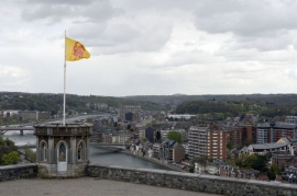 Vue panoramique de Jambes prise de la tour de Guet à la citadelle.