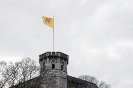 Vue de la tour de Guet à la citadelle de Namur.