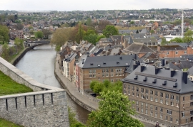 Vue panoramique de Namur côté Sambre.
