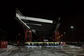 Trilogiport de Liège. Nouveau pont sur la Meuse (phase 1) janvier 2015
