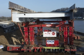 Trilogiport de Liège. Nouveau pont sur la Meuse (phase 2) janvier 2015