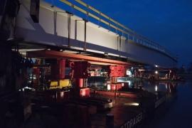 Trilogiport de Liège. Nouveau pont sur la Meuse (phase 3) février 2015