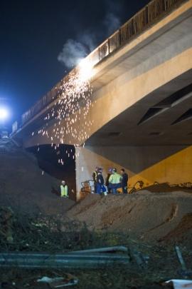 Démolition du pont de Ville-sur-Haine (E19)