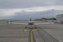 Avion biplace monomoteur à aile basse modèle sonaca 200