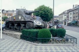 Char Sherman Bastogne.