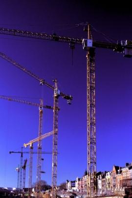 construction des bâtiments de l'ex MET (1997) boulevard du Nord Namur