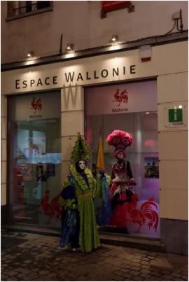 Exposition SUBLIME MASCARADE à l'Espace Wallonie de BRUXELLES (18/02 au 8/04 année 2017)