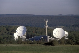 La station terrienne de télécommunications spatiales de Lessive.
