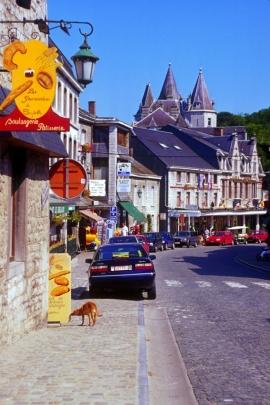 Durbuyconsidérée comme étant Â«la plus petite ville du mondeÂ»: ce slogan touristique fait référence à une charte de franchises octroyée par le roi Jean de Bohème, comte de Luxembourg, qui donne en 1331 le statut de ville à la cité des bords de l'Ourthe. La vieille ville de Durbuy proprement dite ne compte toujours aujourd'hui qu'environ 400 habitants