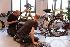 Organisation d'un check-up vélo par la cellule mobilité du Service Public de Wallonie.