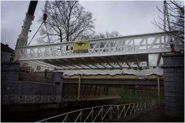 transport et remise du Pont de Liebin (la louvière)