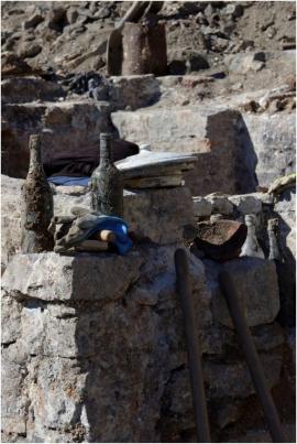 Fouilles archéologiques menées au chantier du Grognon.