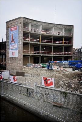Maison de la culture de Namur, chantier de rénovation et d'agrandissement.