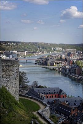 Namur. Vue de la citadelle.