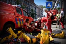 Le Grimpday est un challenge international qui réunit des services de secours du monde entier (pompiers, protection civile, armée, police). Rassemblées à Namur-Jambes, les équipes s'affrontent dans des ateliers axés sur les spécificités du métier de secouriste en milieux périlleux.