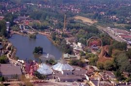 Parc Walibi, vue aérienne.