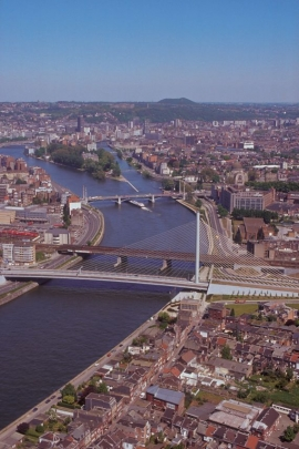 Liège vue du ciel.