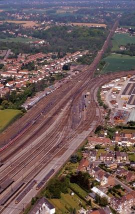 La Wallonie vue du ciel. Gare de triage.