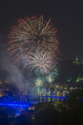 Feux d'artifice de la fête Nationale, Namur.