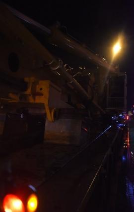 Convoi exceptionnel (matériel techniquepour fondations)destiner au chantier du grognon (Namur).