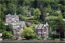 La vallée de la Meuse entre Namur et Dinant.