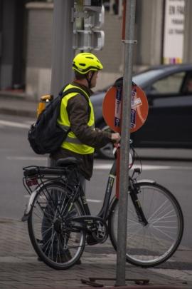 Semaine de la mobilité 2017, au travail en vélo.