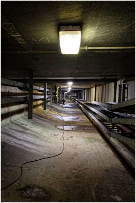 Tunnel de Cointe. Entretien de la structure.