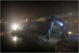 Travaux sur le pont de Godinne.(Septembre 2017)