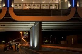 Pont de Verlaine, vérification de la structure et rénovation du bardage.
