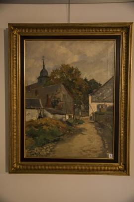 Exposition de tableaux de l'Ecole liégeoise du paysage à l'abbatiale de Saint-Hubert. Toile de Richard Heintz (1871-1929) :