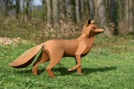 Le renard Adhémar, sculpture de Xavier Embise de Nassogne (© Xavier Embise).