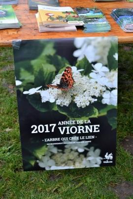 Journée de l'arbre 2017 sur le thème de la viorne (viburnum) lancée par le Service public de Wallonie (SPW). Distribution d'arbres au parc des Récollets à Huy par l'administration communale et le SPW.