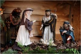 Crèche au village de Noël à Maredsous (Anhée).