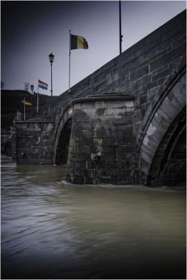 Crue de la Meuse à Namur (janvier 2018).