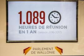 Le centre du visiteur du Parlement wallon inauguré le 24 janvier 2018 à Namur.
