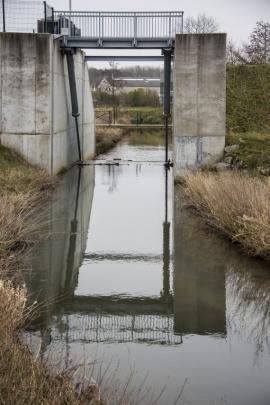 Zone d'immersion temporaire à Jodoigne (en cas de crues ou d'inondations).