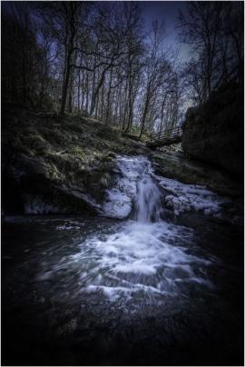 La rivière Ninglinspo, affluent de l'Amblève,Ã Nonceveux (Aywaille) par temps de gel. Seule rivière de montagne de Belgique, le Ninglinspo est classé Patrimoine exceptionnel de Wallonie.