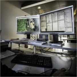 Bâtiment abritant les services de la Géomatique du Service public de Wallonie (SPW) à Salzinnes (Namur).