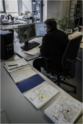 Le département de la Géomatique du Service public de Wallonie (SPW) à Salzinnes (Namur).