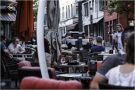 Terrasse de café à Eupen.