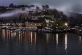 Vue sur la Citadelle de Namur et le Parlement wallon